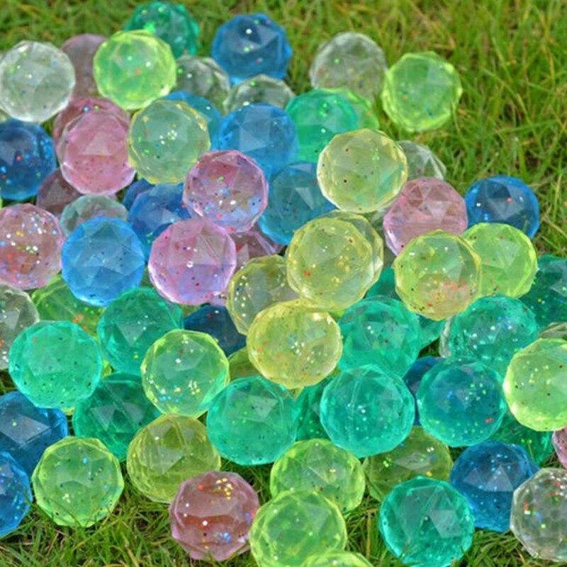 100 pièces 3CM diamant couleur caoutchouc balle rebondissante en plein air jouets enfants Sport jeux élastique jonglage balles sautantes