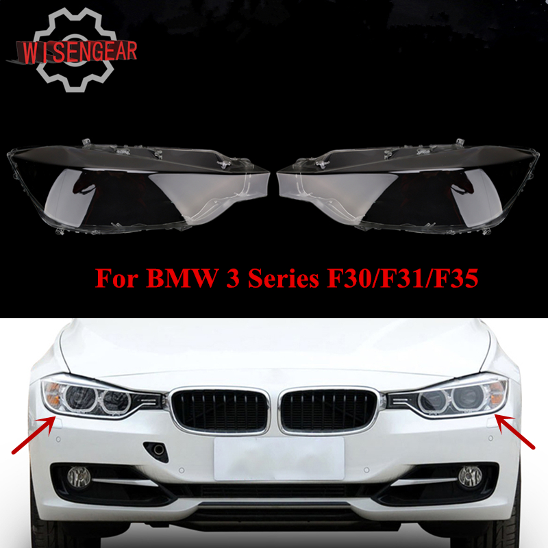 For BMW F30 F31 F35 Flared Headlight Lens Headlamp Cover 3 Series 328i 320i 320iX 328d 328dX 328iX Car Front Lamp Housing N019 front kidney grille bumper grill for bmw f30 f31 f35 320i 328i 335i 2010 2011 2012 2013 2014 glossy black car styling p356