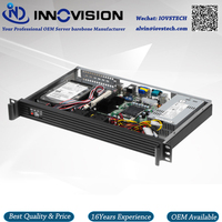 Compact 1U Rackmount Chassis RC1250 With Stylish Aluminum Front Panel Server Case