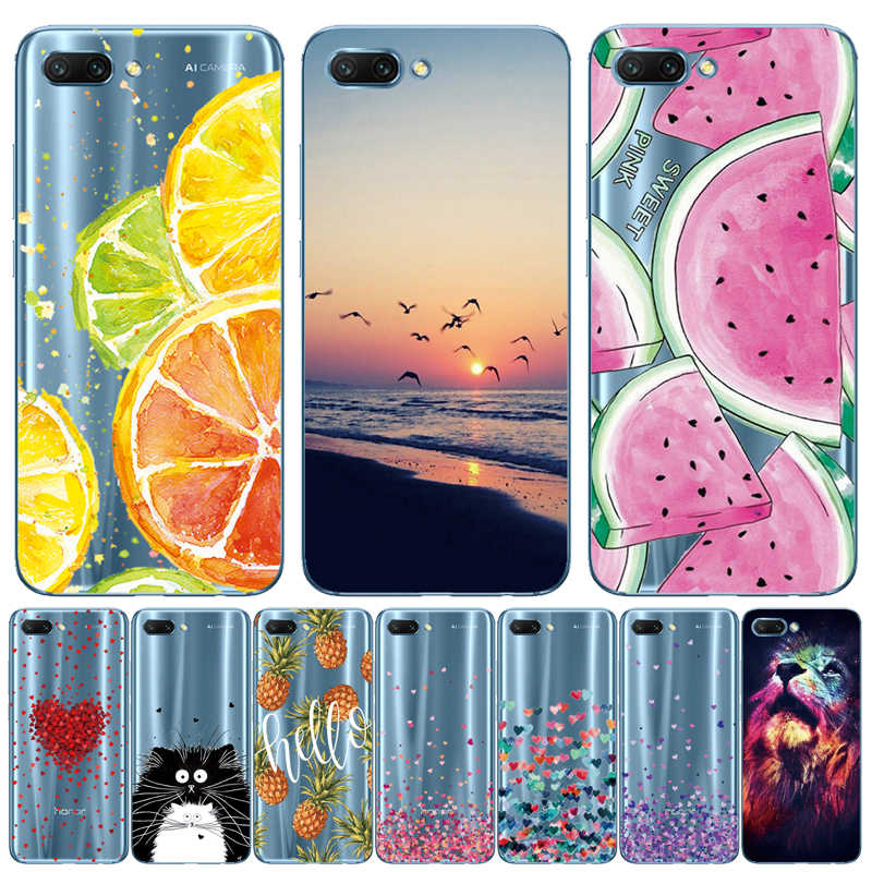 "THREE-DIAO FOR Huawei Honor 10 Cases Silicone TPU Honor10 5.84"" Soft Back Cover Clear FOR Huawei Honor 10 Phone Case TPU"