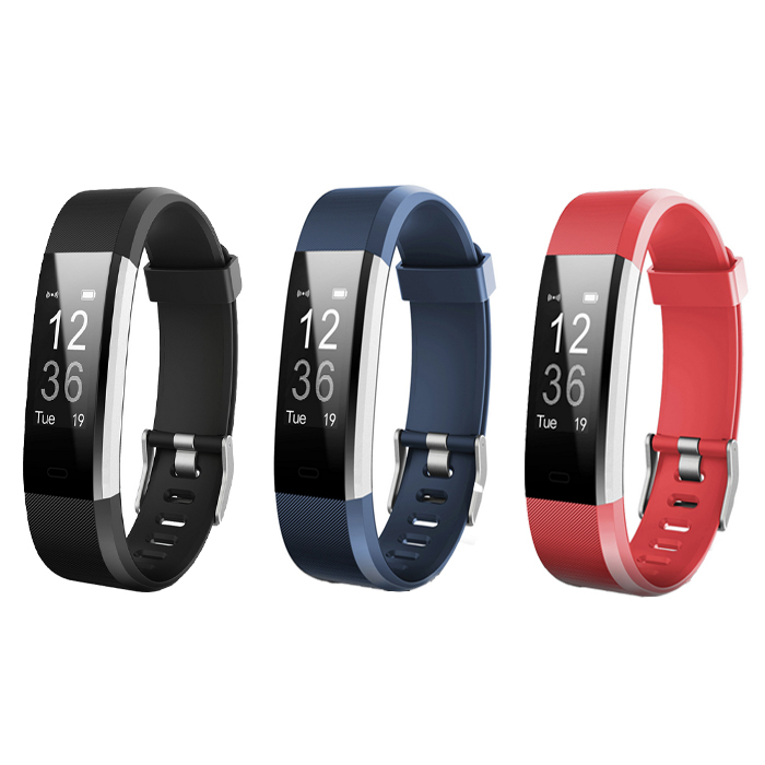 Smart Bracelet ID115Plus Fitness Tracker Step Counter Activity Monitor Band Alarm Clock Vibration Wristband For Iphone Android