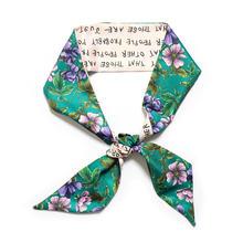 Цветочный принт новинка 2020 сумка шарф для женщин роскошный