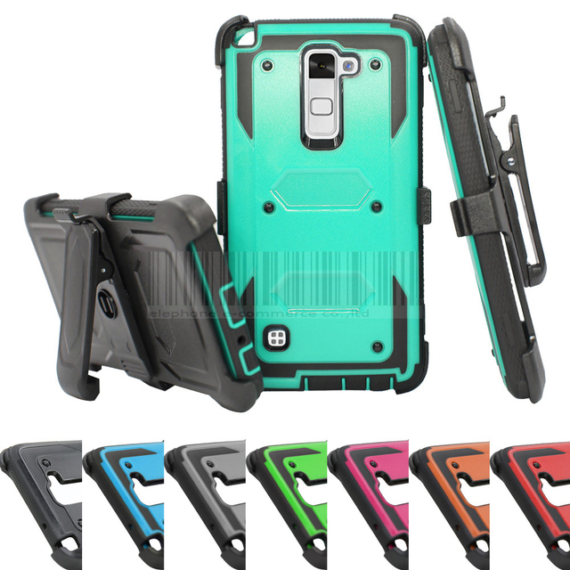 best service 14bde 603f1 US $5.03 25% OFF|Phone Case For LG Stylo/Stylus 2 Plus K530 K535 Rubber  Hybird Heavy Duty Anti shock Protective Armor Hard Cover With Belt Clip-in  ...