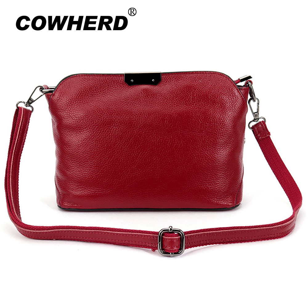 New arrival Genuine Cow Leather Women Messenger Bag Pure Cowhide Ladies Shoulder Bag Four New Colors Female Big Capacity handbag