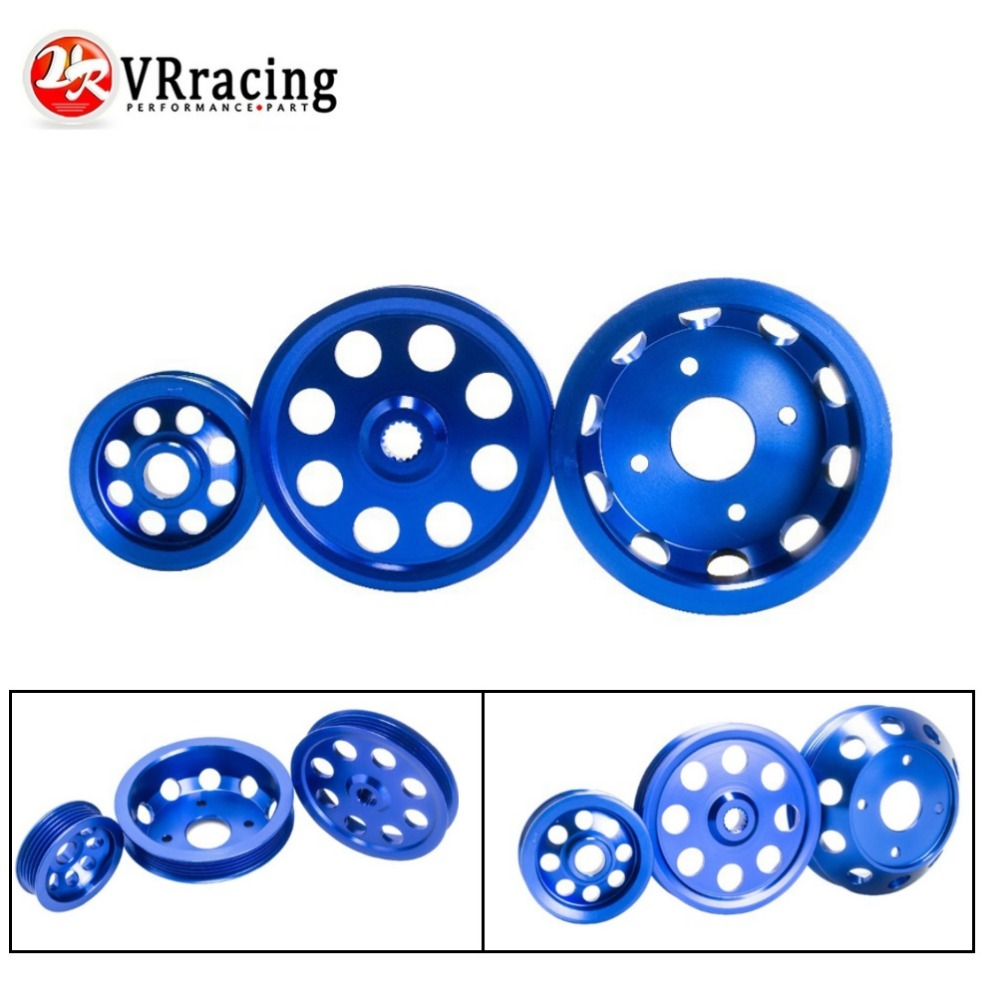 VR RACING LIGHTWEIGHT CRANK PULLEY For Nissan SILVIA S14 S15 SR20 PULLEY BLUE VR6872B