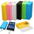 Портативный Оптовая Универсальный Многоцветный Банк Силы USB 2x18650 Зарядное Устройство DIY Box Дело Комплект Для Всех Умных Мобильных Телефонов новый