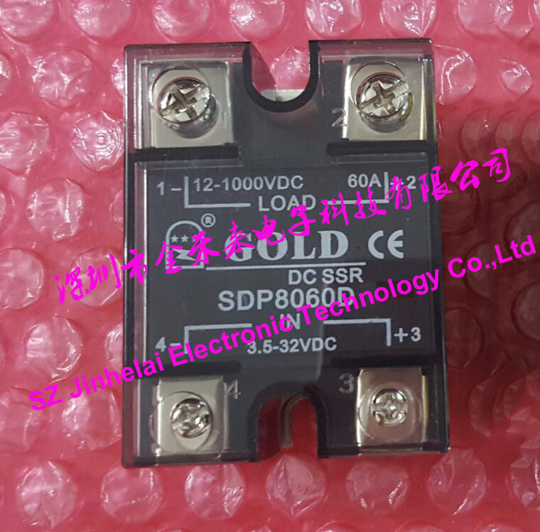 New and original SDP8060D GOLD Single phase DC-DC Solid state relay 12-1000VDC 3.5-32VDC 60A new and original sa366250d sa3 66250d gold 3 phase solid state relay 4 32vdc 90 660vac 250a