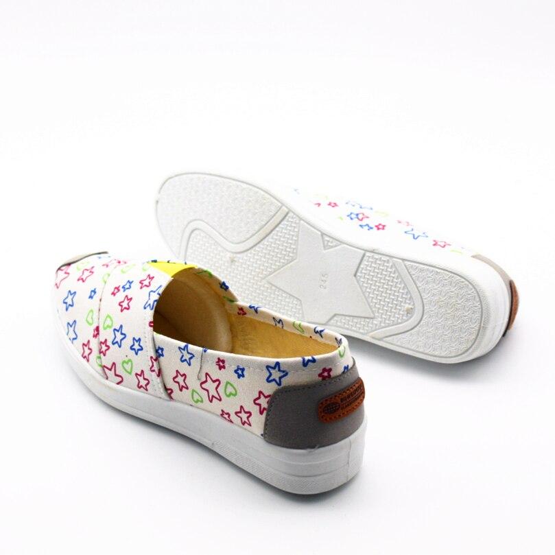 Chaussures Femmes Étoiles F Mignon dd g cc bb Zapatos Casual Doux aa Mujer Lady En Tissu Impression Et D'été Glissement Printemps Cresfimix Femelle h De Mocassins Sur wXRtqxw0