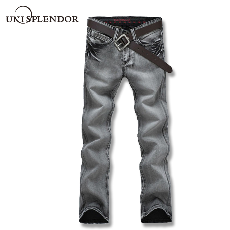 2019 Men   Jeans   Business Casual Thin Summer Straight Slim Fit Grey   Jeans   Man Stretch Denim Pants Trousers Classic Cowboys YN10302