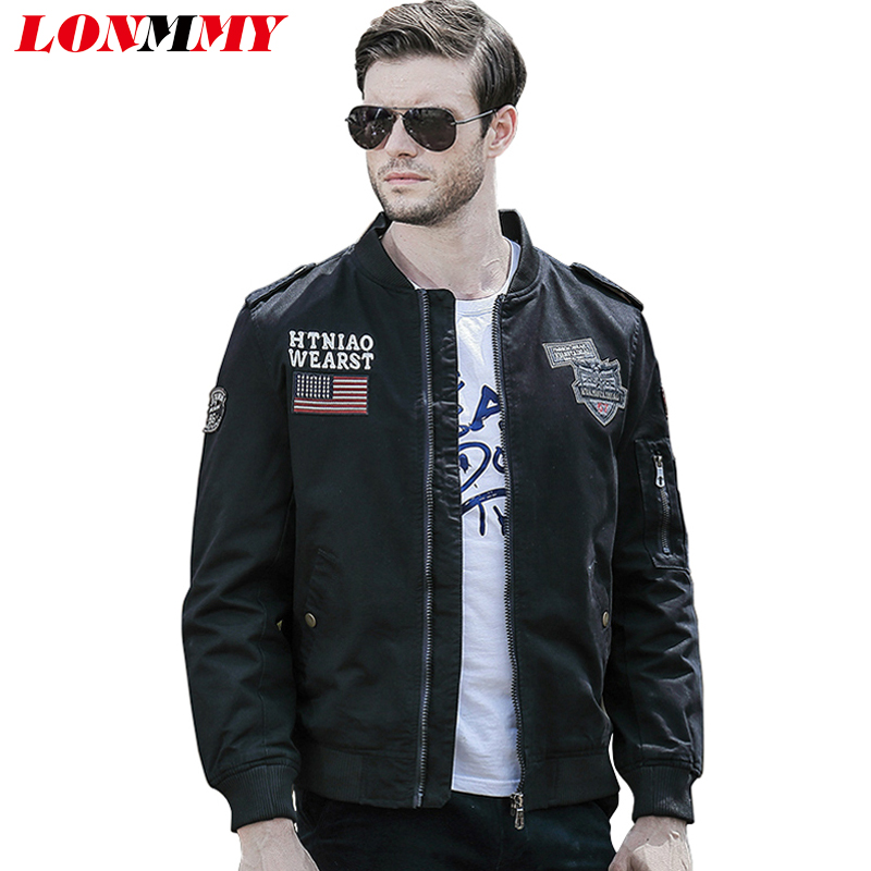 LONMMY 2016 jacket men coat Stand collar Bomber Cotton military militar Army coats mens Casual jaqueta M-4XL - Store store