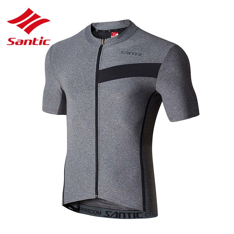 Santic Men Bike Bicycle Jersey 2018 Short Sleeve MTB Road Downhill Racing Cycling Clothes Quick Dry Breathable Ropa Ciclismo cheji men original camouflage green cycling jersey mtb outdoor breathable bike short sleeve clothing bicycle jersey s 3xl