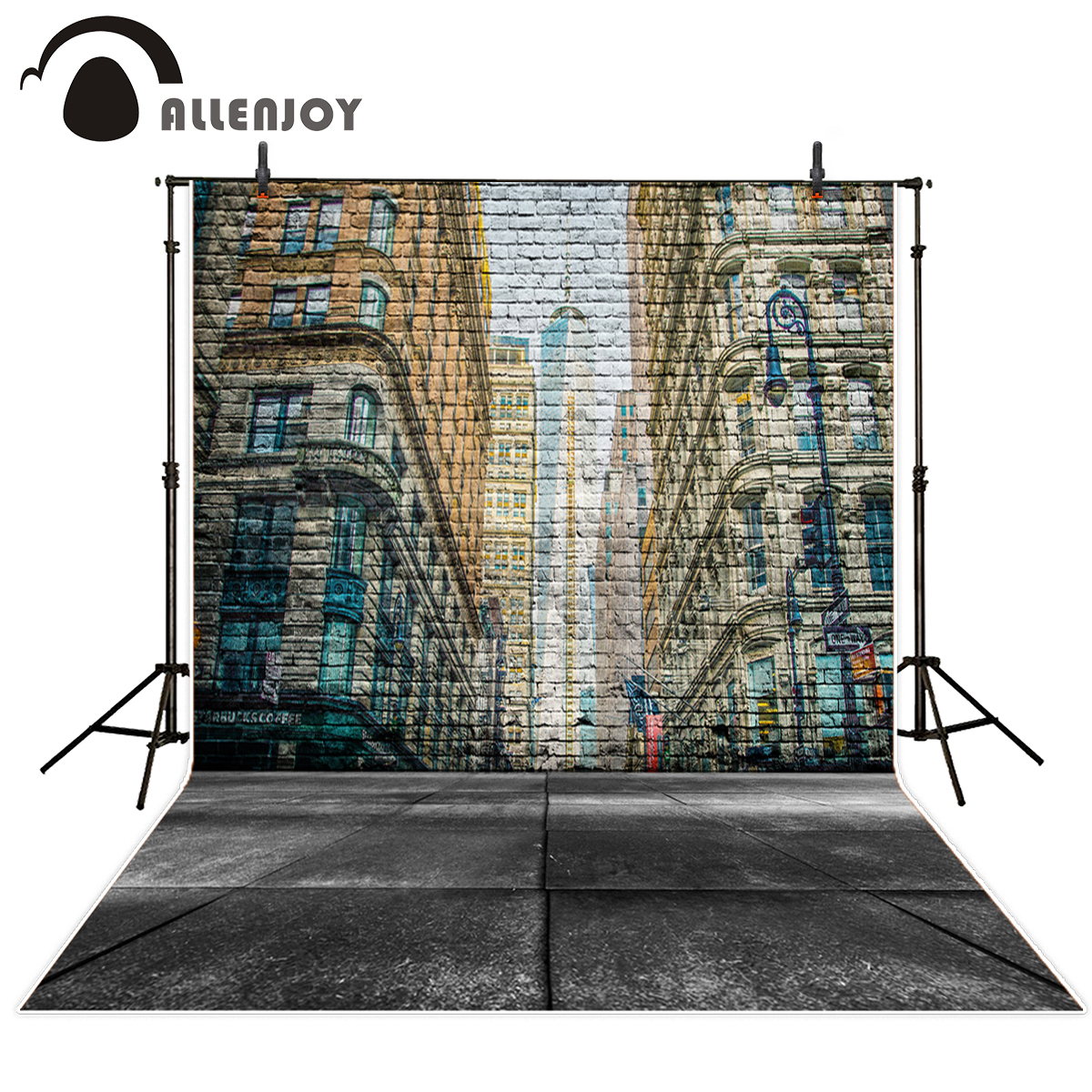 Allenjoy backdrops 3D painting brick wall dreamy city streets original  design photography backdrops custom vinyl fabric-in Background from  Consumer ...