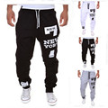 2016 Autumn European and American style Casual printing  trousers Hip hop style Men's  trousers trousers 5 colour M-XXXL Size
