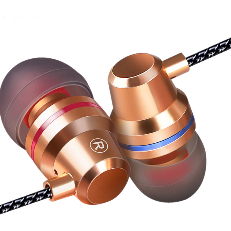 WLNGWEAR Q1 Metal Earphones with Microphone Super Bass Headset Earbuds In-ear Earphone for Mobile phone Xiaomi iphone купить