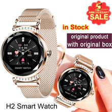 Newest Fashion H2 Smart Watch Women 3D Diamond Glass Heart Rate Blood Pressure Sleep Monitor Best Gift Smartwatch(China)