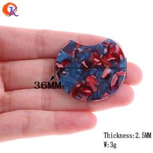 Image 2 - Cordial Design accessoires de bijouterie, 36x36MM, 50 pièces, fait à la main, perles dacide acétique, forme de pièce de monnaie ronde, boucles doreilles bijoux à bricoler soi même