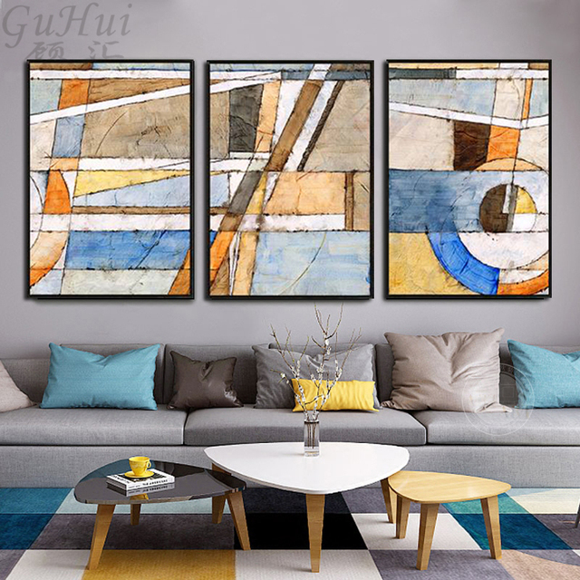 Scandinavian Color Code Modern Abstract Canvas Painting Wall Picture  Minimalism Poster Nordic Living Room Sofa Background
