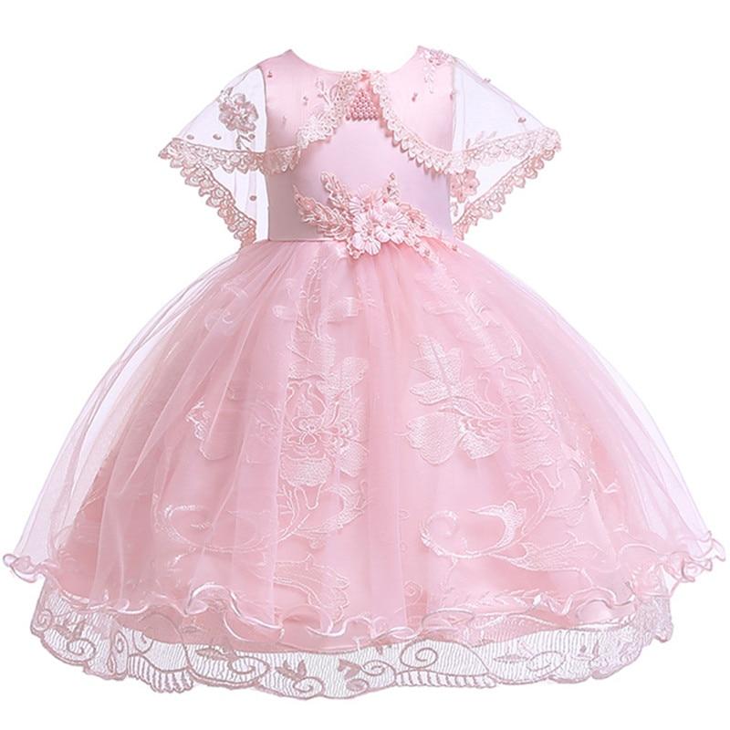 10935a6e62cbe1 Prinses Bloem Meisje Jurk Zomer Tutu Wedding Verjaardagsfeestje Jurken Voor Meisjes  kinderen Kostuum 3-10 jaar Prom kleding