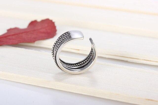 Bijoux fantaisie offre spéciale 925 bague en argent marque de luxe croix fil torsadé anneaux de tissage pour femmes/hommes livraison directe