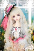 Muñeca Bjd 1/4 mini fee bjd bjd muñeca de pelo largo y blanco 1/4 muñeca de la muchacha del envío ojos y maquillaje muñecas bjd en venta