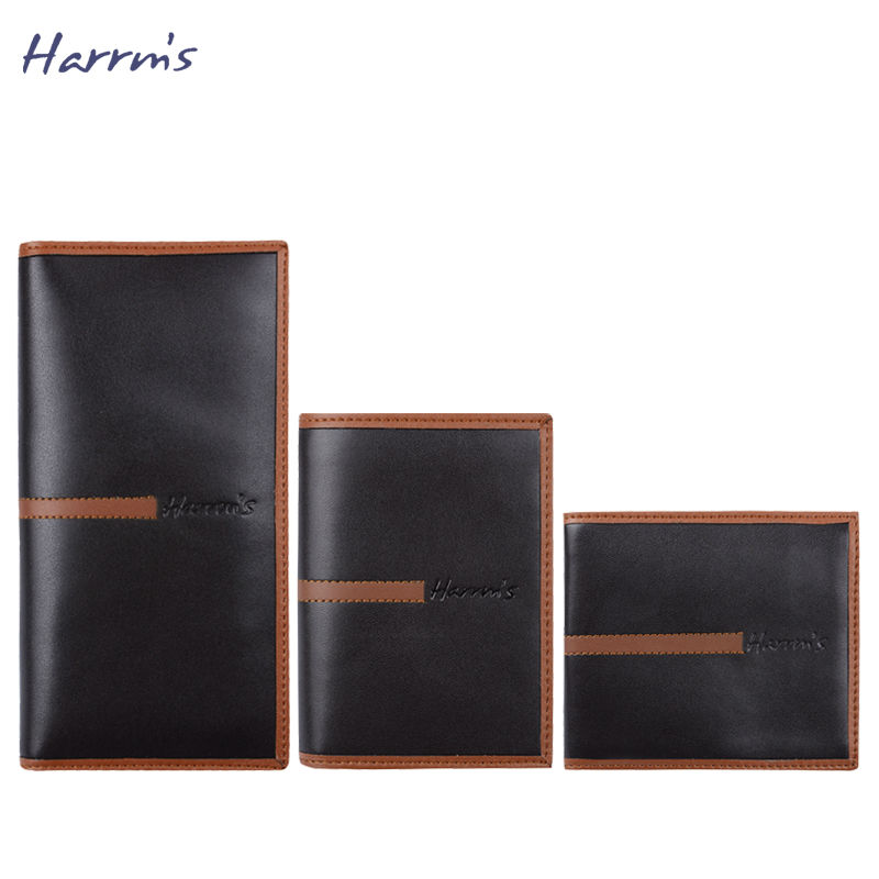 ФОТО Harrms Design Men Wallets Famous Brand Wallet Leather Purse Long Short Purse Male Colletion Mens Wallet High Quality