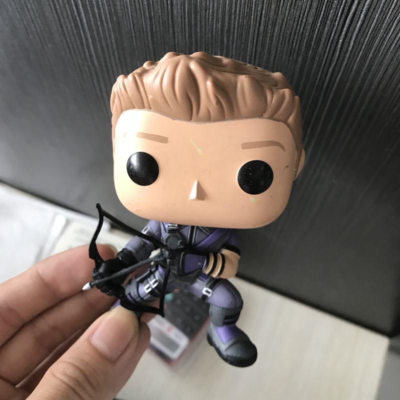 Original Funko POP Secondhand Marvel Hawkeye SuperHeros Vinyl Action font b Figure b font Collectible Model