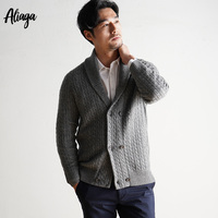 2019 Warm Autumn Winter Sweater Men 100% Cashmere Cardigan Sweaters Coats Thick Casual V neck Cardigan Big Size Sweater Knitwear