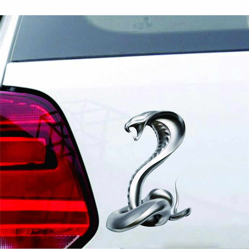 Kongyide Araba Sticker 1 Adet Araba Çıkartması Oto Kamyon Hood Yan King Cobra Göz kral yılan Sticker evrensel dropship mar2