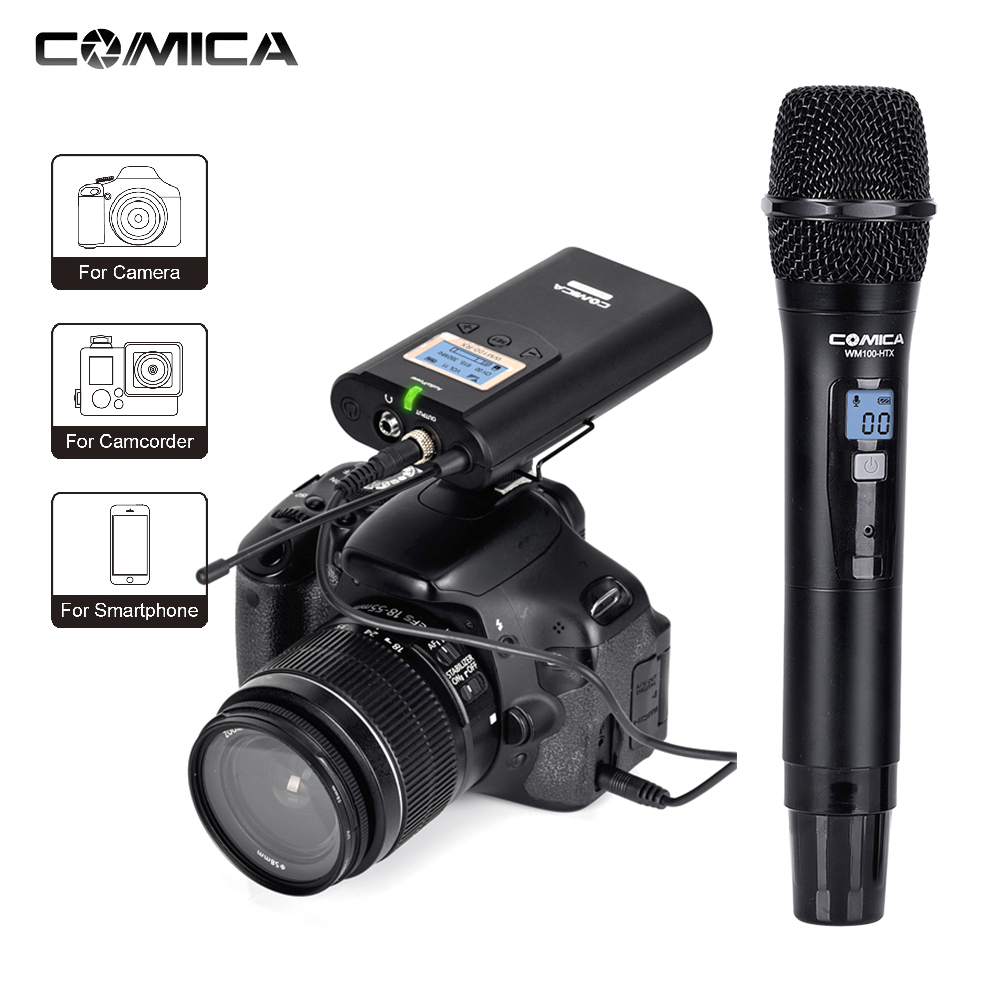 comica cvmwm100h 48channel wireless microphone mikrafon system studio video microphone mic for. Black Bedroom Furniture Sets. Home Design Ideas