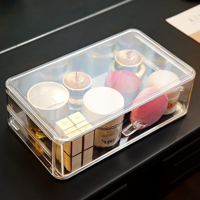 large dustproof perfume bottles makeup storage box plastic perfume bottles dustproof cosmetic makeup organizer holder box C5062