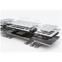 portable aluminum B.O.W  Portable Folding Bluetooth Keyboard, Pocket size  Folded Aluminum Wireless Mini Keyboard Case for Tablet/iPad /iPhone (4)