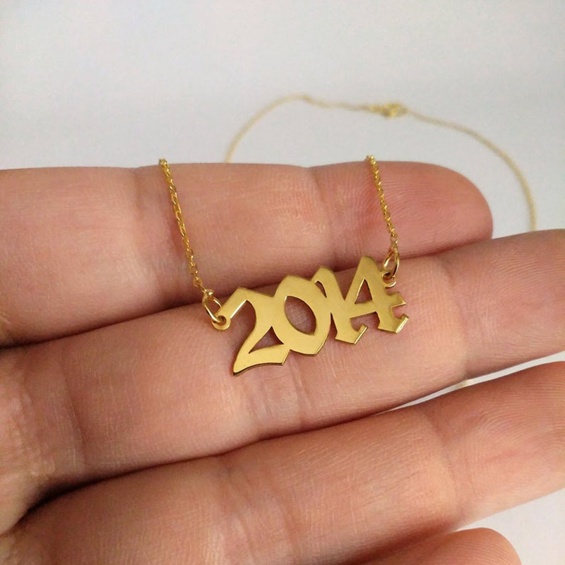 1985 To 2019 Number Date Of Birth Necklace Personalized Custom Jewelry 1993 1994 1995 1996 1997