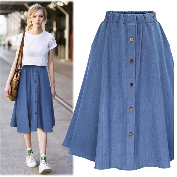 a96b2e144 new fashion women denim a line skirt for large women plus size loose  oversize denim skirts for women 100kg