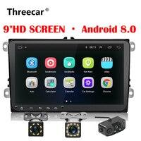 Новый 9 дюймов, автомобильный, мультимедийный плеер Android 8 gps авто радио 2 Din USB для Volkswagen/VW/Passat/поло/Гольф/Lamando
