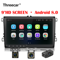 New 9 inch Car Multimedia Player Android 8 GPS Auto radio 2 Din USB For Volkswagen/VW/ Passat/POLO/GOLF/Lamando