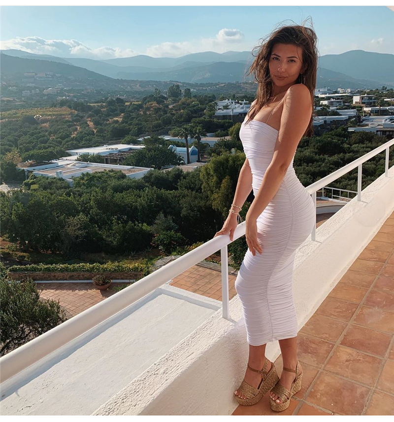 HTB1jo9QXuH2gK0jSZFEq6AqMpXaj - NewAsia 2 Layers White Summer Dress Women 2020 Elegant Straps Ruched Maxi Dress Pink Long Dress Sexy Dresses Party Night Robe