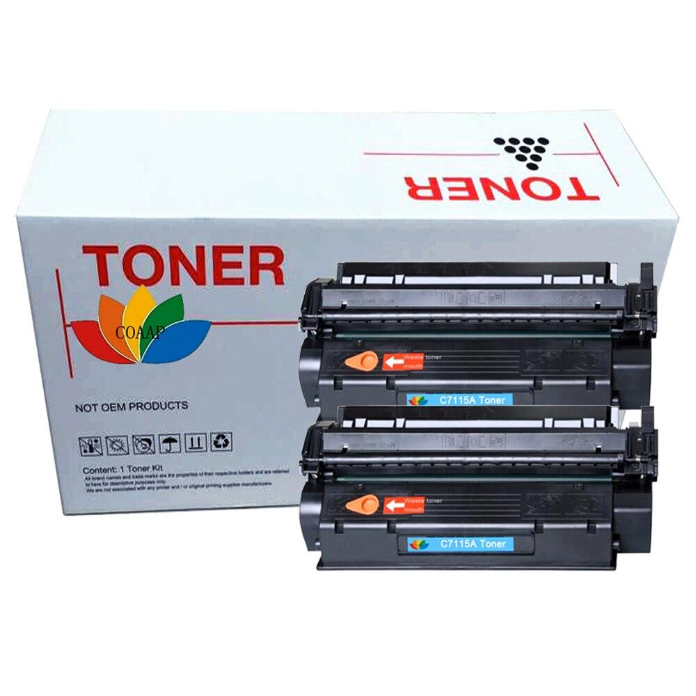2 Pcak C7115A 7115a compatible toner cartridge for HP LaserJet 1000 1005 1200 1220 3300 3330 3380MFP for CANON LBP1210 printer