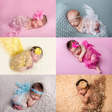 Embroidery Lace Baby Photography Props Newborn Wraps Blanket Scarf Photo