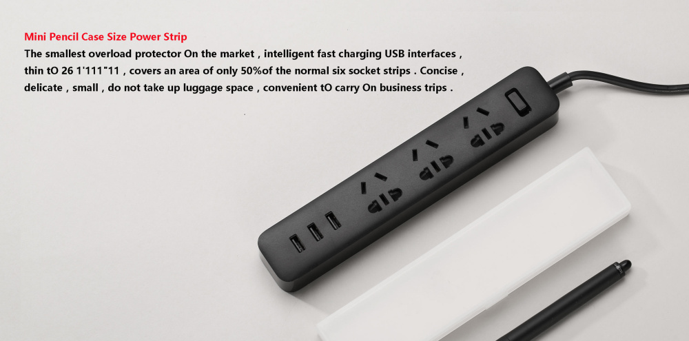 XiaoMi 3 USB Port Fast Charging 2.1A USB Smart Power Socket Power strip charger Portable Strip Plug Adapter For Phone H25 # (5)