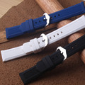 Новый черный  белый силиконовый резиновый ремешок для часов  большой размер  Мягкие Водонепроницаемые ленты  ремешок 22 мм 23 мм 24 мм 26 мм 28 мм ...