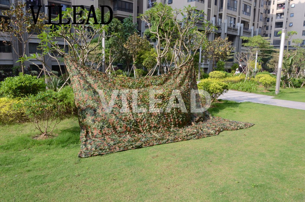 VILEAD 4M x 7M (13FT x 23FT) Woodland Digital Military Camouflage Netting Army Camo Net Sun Shelter for Hunting Camping Tent camo net 4x5m home decoration desert camouflage net outdoor camping sun shelter high quality military camouflage netting