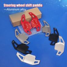 цена на 2pcs Aluminum Steering Wheel Shift Paddle Shifter Extension For Audi A3 A4L A5 A6L A7 A8 Q3 Q5 Q7 TT