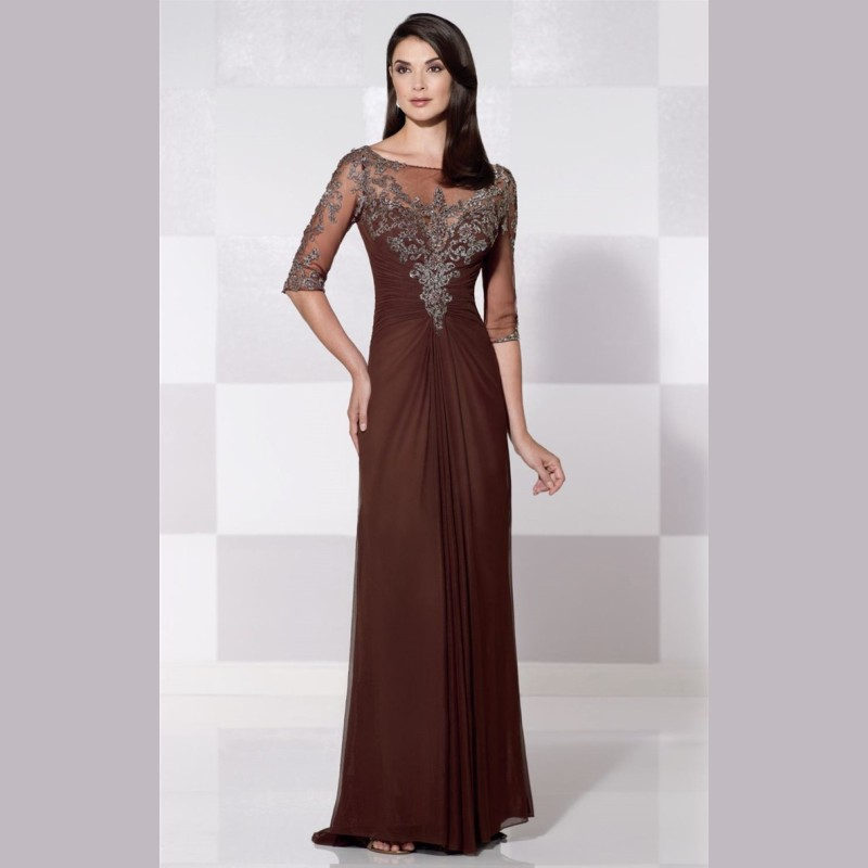 2015 new brown mothers dresses for beach weddings half for Brown dresses for a wedding