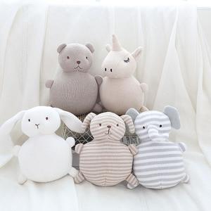 Poduszka dla dziecka z dzwonkiem pluszowa zabawka dla dzieci wystrój pokoju dziane zwierzęta wypchane zabawki dla noworodków świąteczne prezenty urodzinowe
