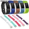 3D Silicone Esportes Pulso Bandas Pulseiras de relógio com Pulseira para Fitbit Carga 2 Freqüência Cardíaca Rastreador Atividade