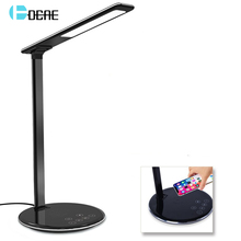 все цены на Table Desk LED Lamp Light Qi Wireless Charger For iPhone 8 X XS Max XR Airpods 10W Fast Wireless Charging Pad for Samsung S10 S9 онлайн