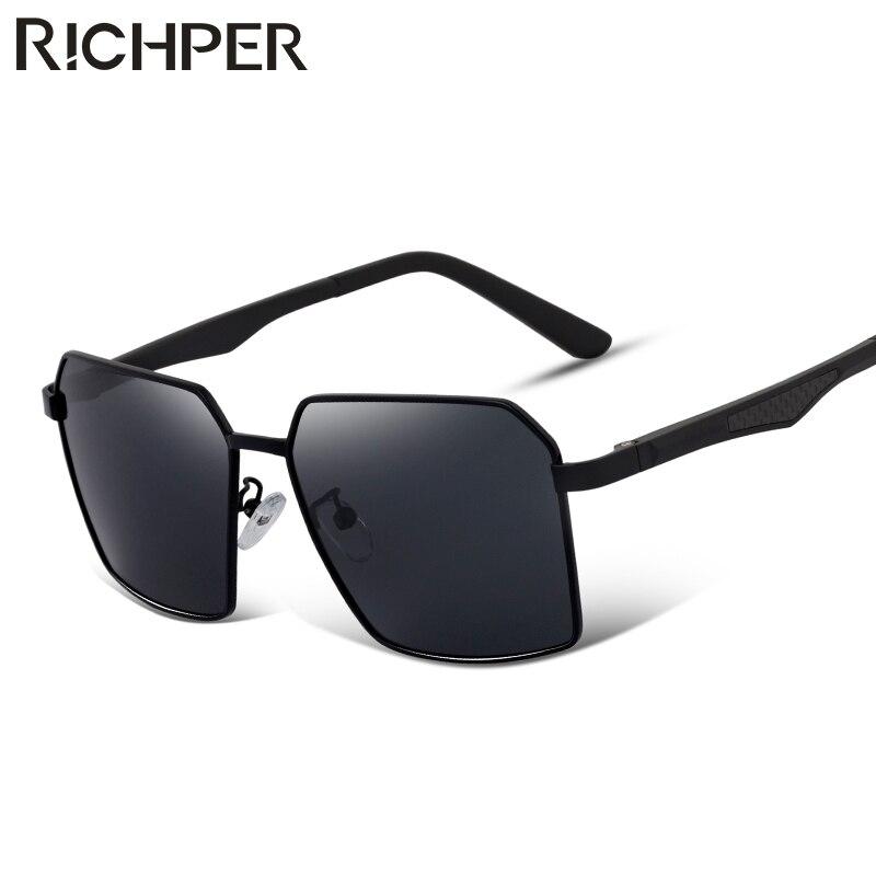 RICHPER 2018 New Brand Sunglasses Men Polarized Glasses Plastic Retro Sun Rays Male Glasses Driving Vintage Unisex For Fish