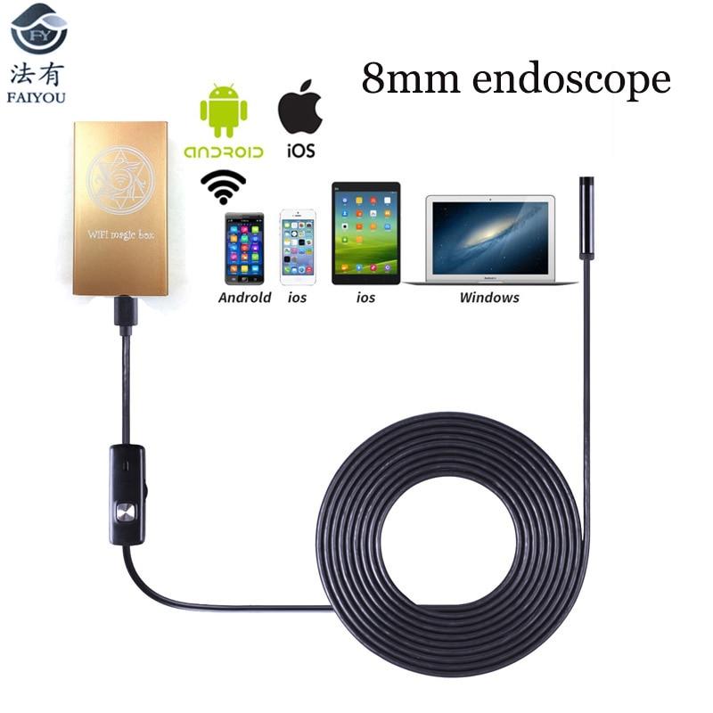 Universal WIFI Endoscope WIFI Camera 7mm Diameter 2.4GHZ 2MP 720P 6LED Lamp IP67 Waterproof 65 Degree Angle for Android IOS PCUniversal WIFI Endoscope WIFI Camera 7mm Diameter 2.4GHZ 2MP 720P 6LED Lamp IP67 Waterproof 65 Degree Angle for Android IOS PC