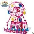 Wl1002 noria caja de música 3D Building block sets juguetes para las niñas Bricks educación de bricolaje juguetes versión de lujo