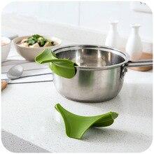 2 шт. силиконовая воронка для жидкости, отвод рта, высококачественные кухонные инструменты, антипролитые кухонные принадлежности, Круглый полезный инструмент для супа